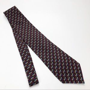Dolphin Tie - Handmade, 100% Silk